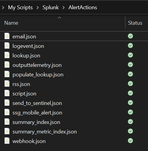 JSON Export